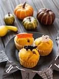【簡単おやつ】フライパンで簡単!かぼちゃと小豆の蒸しパン