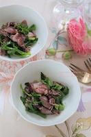 ホタルイカと菜の花の粒マスタードマリネ