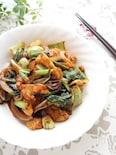 鶏皮と野菜の甜麺醤炒め