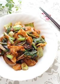 『鶏皮と野菜の甜麺醤炒め』