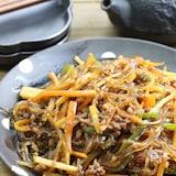 野菜、ひき肉チャプチェ