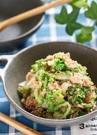 『白菜とツナのごま味噌サラダ【#マヨ不使用 #湯かけ #簡単】』