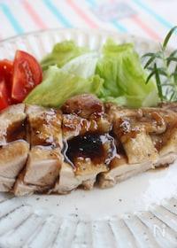『鶏のソテー、バルサミコソース』