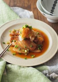 『甘辛豚肉と大根おろしポン酢』