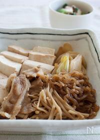 『『フライパンひとつで。すき煮』#ご飯がすすむ#簡単和食』