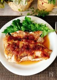 『鶏むね肉のソテー♪玉ねぎポン酢ソース』