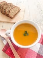 カレー風味かぼちゃポタージュ♪牛乳や豆乳なしで簡単!