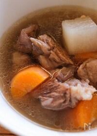 『台湾スープ【牛筋牛すね大根スープ】清燉半筋半肉蘿蔔湯』