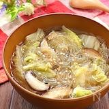 つるっと栄養満点♡白菜と椎茸のとろ~り春雨ヌードル
