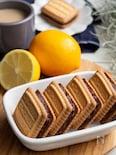 材料3つ・市販ビスケット活用♪ピール爽やかレモンあんサンド。
