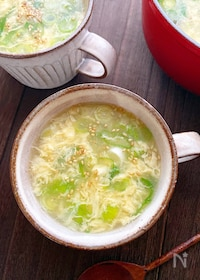 『3分でできる基本のふわふわ卵スープ!』