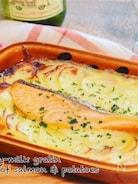鮭とポテトの豆乳グラタン*簡単ヘルシー☆