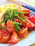 【丼にも!】スイートチリ大活躍!『ジューシートマトエビチリ』