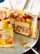 いちごたっぷり♡フルーツレアチーズケーキ