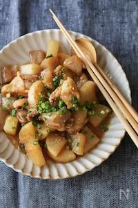 鶏と大根のオイスター味噌煮込み。