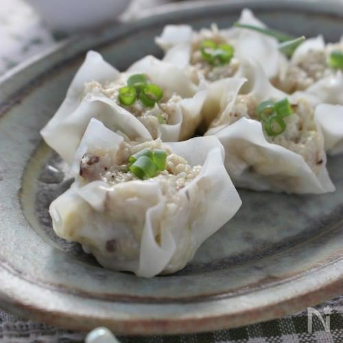キノコと豆腐の焼売