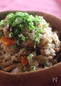 『韓国風大根と鶏肉の炊き込みご飯』