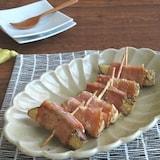 お弁当の隙間に☆ご飯がすすむ◎なすのベーコン巻きマヨポン炒め