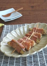 『お弁当の隙間に☆ご飯がすすむ◎なすのベーコン巻きマヨポン炒め』