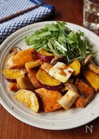 『秋鮭とサツマイモの照り焼きバター風味』