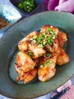 【調味料2つ】やわらか鶏むね肉のハニーポン酢照り焼き