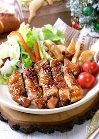 『簡単3ステップ☆フライパンde照り焼きローストチキン』