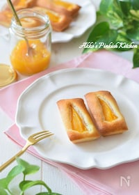 『トロ~り激ウマ♡マンゴーフィナンシェ♪缶詰使用で超簡単!』