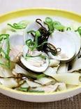 きし麺で「ハマグリの和風ボンゴレ」