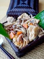 秋の味覚きのこたっぷりの炊き込みご飯#作り置き#お弁当
