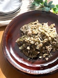 やみつきー♡蓮根と鶏ひき肉のガーリックのり塩ペッパー炒め