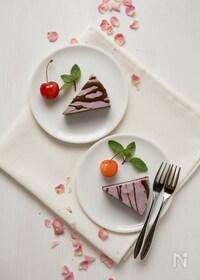 『ラズベリーとカカオのローチーズケーキ』