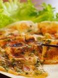 バター醤油で焼く もち明太チヂミ
