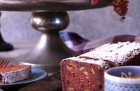 やさしい甘さ♪HMで簡単『豆腐とくるみのチョコパウンド』
