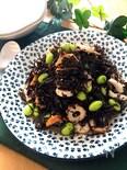 スプーンでモリモリ食べられる♡ひじきとちくわと枝豆のサラダ