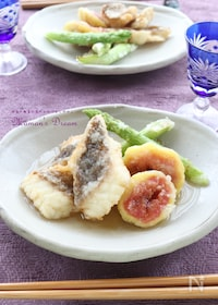 『白身魚と無花果の揚げ出し』