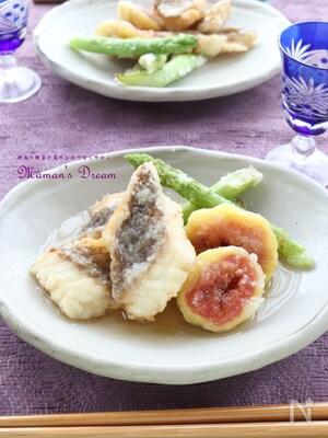 白身魚と無花果の揚げ出し