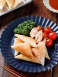 はんぺんとベーコンチーズの三角春巻き【#冷凍保存#お弁当】