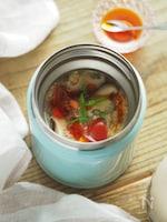 【スープジャー弁当】ヘルシーなのにお腹満足♪サンラータンがゆ