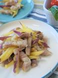 基本の塩豚で材料2つ!!塩豚とサツマイモのスティック焼き♪