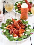 トマトガーリックで!魚介の旨みたっぷり冷製カチュッコ