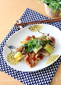 『鶏肉と長葱の柚子胡椒炒め』