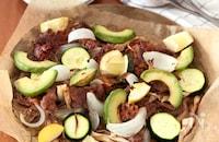 牛肉と野菜のオーブン焼き
