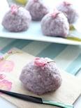 電子レンジで簡単 もち米で作る 桜もち。