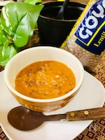スパイス香る♪レンズ豆のトマトスープ