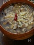 ダシなし、煮立ててチャイナ味噌汁