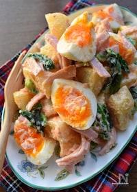 『明太マヨ♡むっちゃ旨し♡半熟卵とじゃが芋の明太マヨサラダ♡』