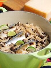 簡単★サンマとしめじのパルミジャーノ風味の炊き込みご飯
