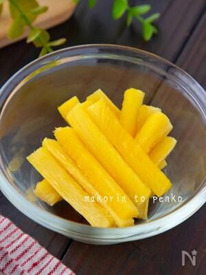 レンジで簡単!パイナップルの芯で半生ドライフルーツ