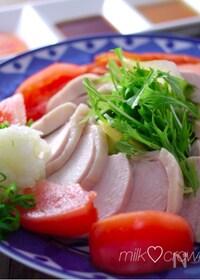 『超簡単な鶏ハム☆調味料は砂糖と塩だけで思い立ったらすぐ出来る』