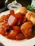 30分でこっくり染み旨♪豚バラと大根の中華炒め煮♪